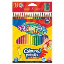 Pastelky Colorino trojhranné 18ks + ořezávátko