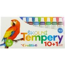 Temperové barvy 10ks + běloba, 16ml