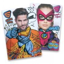 Školní sešit Superhero A4, linkovaný, 40 listů, mix motivů