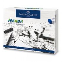 Popisovače Faber-Castell Pitt Artist Pen Manga 19 ks