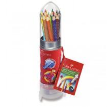 Pastelky Faber-Castell Grip 2001 112457 dárková sada raketa, 15 barev