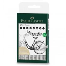 Popisovač Faber-Castell Ecco Pigment sada 8 ks, černé