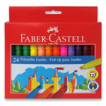 Dětské fixy Faber-Castell Jumbo 24 barev