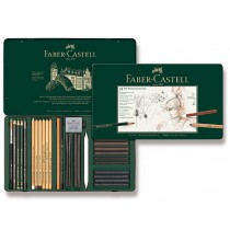 Grafitové tužky Faber-Castell Pitt Monochrome sada 33 ks