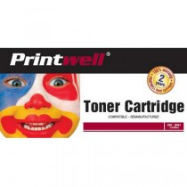 Printwell 711 (CRG-711) 2577B002 kompatibilní kazeta, barva náplně azurová, 6000 stran