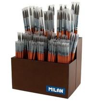 Štětce Milan 101 kulaté - vlas pony stojan - 237ks