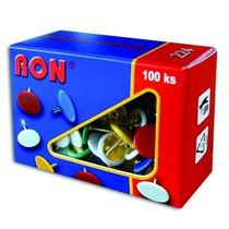 RON - připínáčky barevné - 224/ 100ks