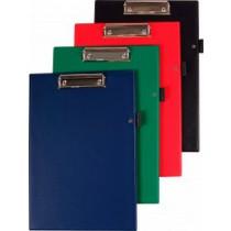 Podložka psací s klipem Plastic, PVC, úchyt na tužku - A4  Mix barva