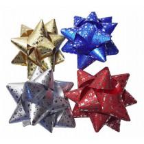Rozeta 9cm hvězdy mix