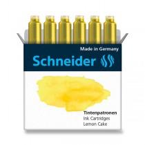 Inkoustové bombičky Schneider, 6 ks žluté