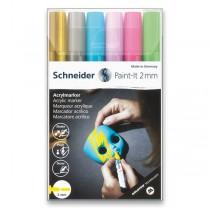 Akrylový popisovač Schneider Paint-It 310 souprava V2, 6 barev
