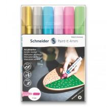 Akrylový popisovač Schneider Paint-It 320 souprava V2, 6 barev