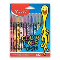 Dětské fixy Maped Color´Peps Monster 12 barev