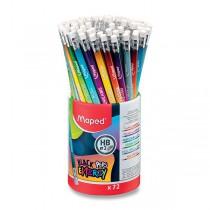 Grafitová tužka Maped Black´Peps Energy tvrdost HB, stojánek 72 ks
