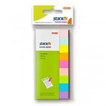 Samolepicí záložky Hopax Stick'n Notes 50 x 12 mm, 9 x 50 listů