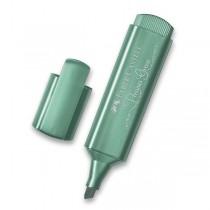 Zvýrazňovač Faber-Castell Textliner 46 Metallic metalický zelený