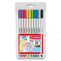 Fix Stabilo Pen 68 Brush 10 barev