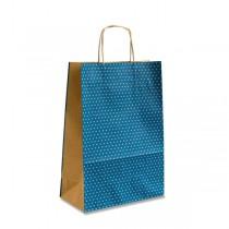 Dárková taška Natura Pois modrá-S
