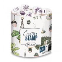Razítka Creative Stamp Rostliny, 21 ks