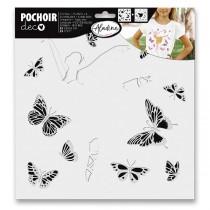 Plastová šablona AladinE Duo - Motýlí baletka 28 x 28 cm