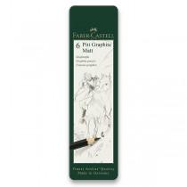 Grafitová tužka Faber-Castell Pitt Graphite Matt sada 6 ks
