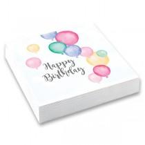 Papírové ubrousky Happy Birthday 33 x 33 cm, 20 ks