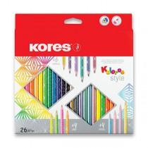 Pastelky Kores Kolores Style 26 barev