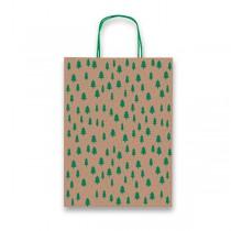 Dárková taška Kraft Natale zelená
