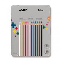 Lamy 4plus pastelky, 12 barev, plechová krabička