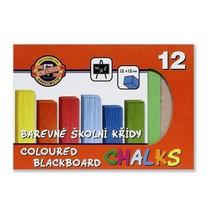 Křída školní barevná - 12ks Koh-i-noor