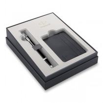 Parker IM Essential Black CT kuličková tužka, dárková sada s pouzdrem na karty