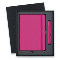 Lamy Pico Neon Pink kapesní kuličková tužka, dárková sada se zápisníkem