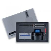 Lamy Safari Shiny Black plnicí pero, dárková sada s konvertorem a inkoustem