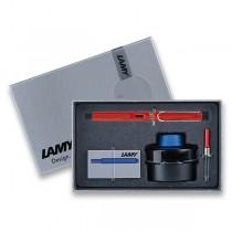 Lamy Safari Shiny Red plnicí pero, dárková sada s konvertorem a inkoustem