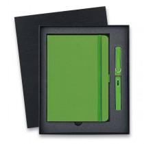 Lamy Safari Shiny Green plnicí pero, dárková sada se zápisníkem