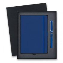 Lamy Safari Shiny Blue plnicí pero, dárková sada se zápisníkem