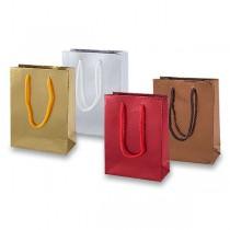 Dárková taška metalická 125 x 170 x 60 mm, mix barev