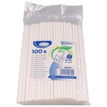 Papírové Bio brčko 100ks bílé