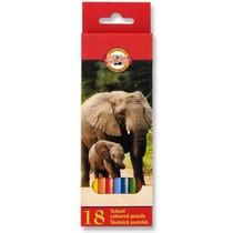 Pastelky Koh-i-noor 3553 - 18 barev, dlouhé