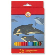 Pastelky Koh-i-noor 3555 - 36 barev, dlouhé