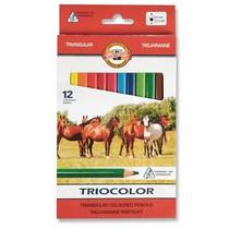 Pastelky Koh-i-noor,střední trojhranné 3142 - 12 barev