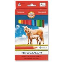 Pastelky Koh-i-noor,střední trojhranné 3144 - 24 barev