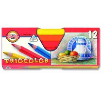 Pastelky Koh-i-noor,silné trojhranné 3152 - 12 barev