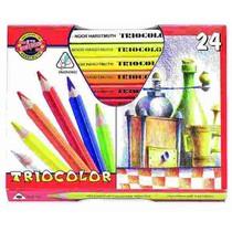 Pastelky Koh-i-noor,silné trojhranné 3154 - 24 barev