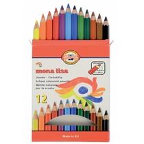 Pastelky Koh-i-noor 3372 - 12 barev, JUMBO