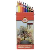 Pastelky Koh-i-noor 3373 - 18 barev, JUMBO