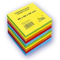 Poznámkový bloček barevný - lepený - 90 × 90 × 50 mm
