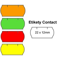 Cenové etikety Contact 22x12 mm