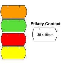 Cenové etikety Contact oblé 25x16 mm