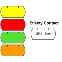 Cenové etikety Contact 26x12 mm